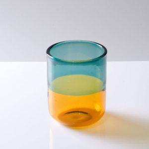 Misha glas mörkgrön & gul