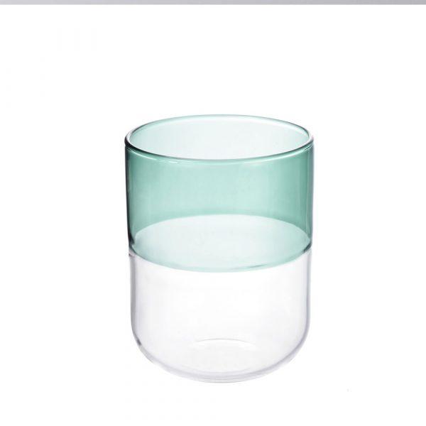 Misha glas mörkgrön & kristallklar