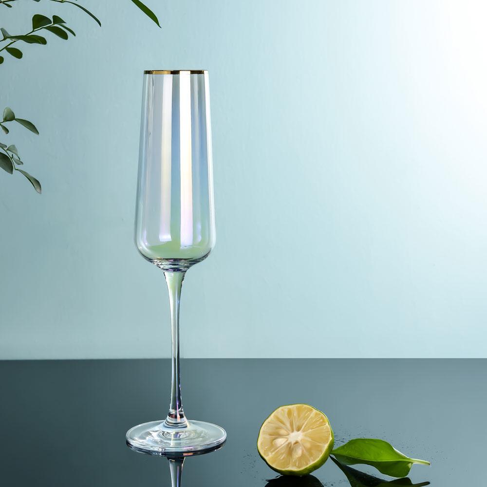 Regnbågen champagneglas